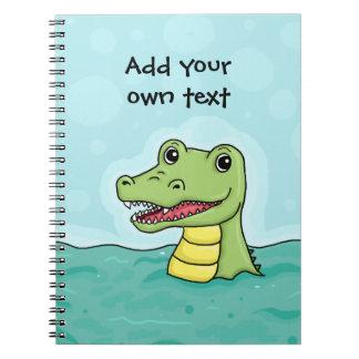 Cocodrilo feliz adaptable libro de apuntes