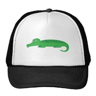 Cocodrilo lindo gorras de camionero