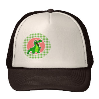 Cocodrilo lindo; Guinga verde Gorros Bordados