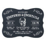 Cóctel de Halloween del cráneo de la pizarra Invitación 12,7 X 17,8 Cm