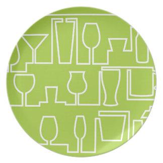 Cóctel de la verde lima plato
