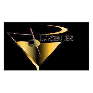 Cóctel de Martini del oro de las tarjetas de Tarjetas De Visita