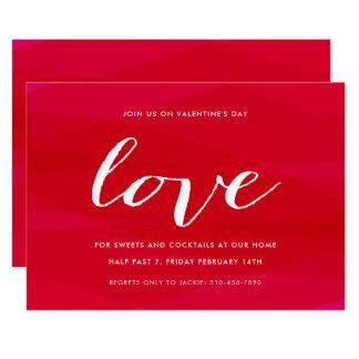 Cóctel del el día de San Valentín del amor Invitación 12,7 X 17,8 Cm