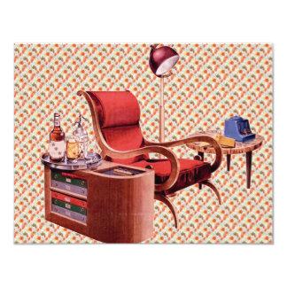 Cóctel retro de los años 40 invitación 10,8 x 13,9 cm