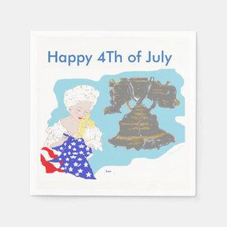 Cóctel servilletas de papel 4 de julio estándar