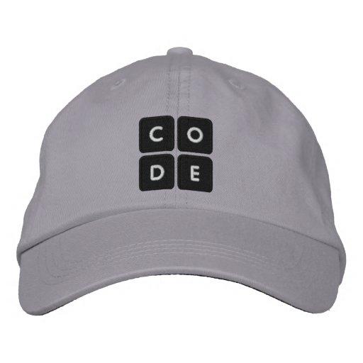 Code.org bordó el gorra gorra de beisbol bordada