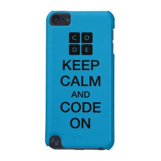 """Code.org """"guarda calma y código en """" funda para iPod touch 5G"""