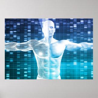 Codificación de la DNA y código genético como Póster