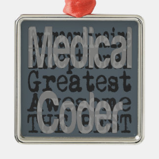 Codificador médico Extraordinaire Adorno Navideño Cuadrado De Metal