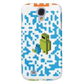 Código atado con alambre del papá QR del friki Funda Para Galaxy S4
