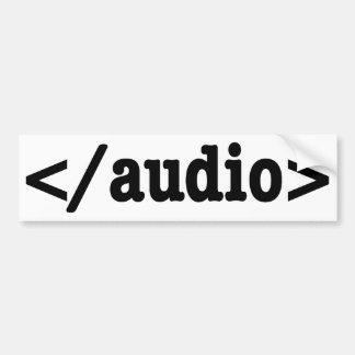 Código audio HTML5 del final Pegatina Para Coche