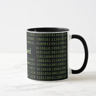 Código binario personalizado taza