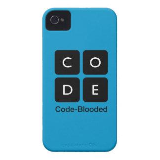 Código-Blooded iPhone 4 Case-Mate Cárcasa