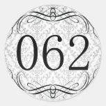 Código de área 062 etiquetas redondas