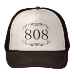 Código de área 808 gorros bordados