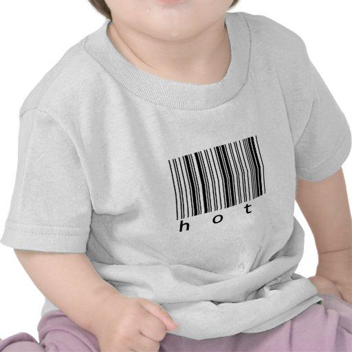 código de barras caliente camisetas