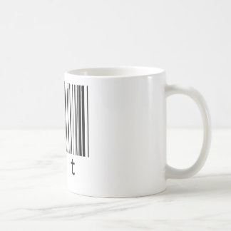 código de barras caliente taza de café