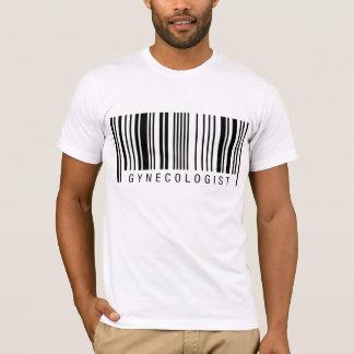 Código de barras del ginecólogo camiseta