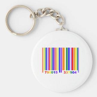 Código de barras del orgullo gay llavero redondo tipo chapa