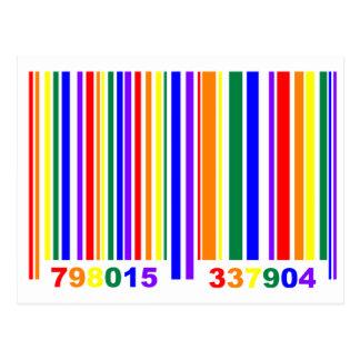 Código de barras del orgullo gay postal