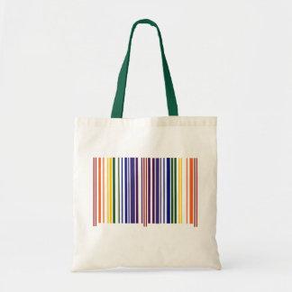 Código de barras doble del arco iris bolso de tela