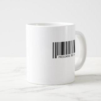 Código de barras preescolar del profesor taza de café grande