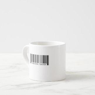 Código de barras preescolar del profesor taza de espresso