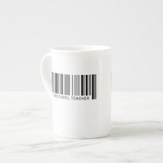 Código de barras preescolar del profesor taza de té