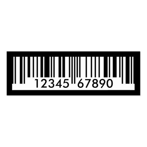 código de barras plantillas de tarjeta de negocio