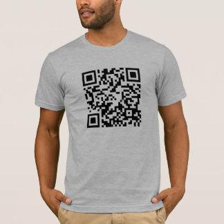 ¡Código de QR - androide y camisa scannable del