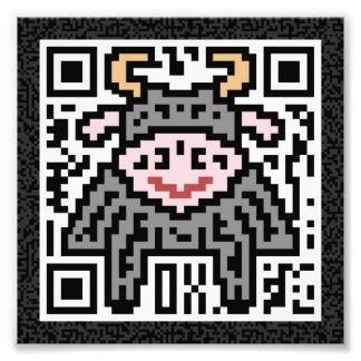 Código de QR el buey Foto