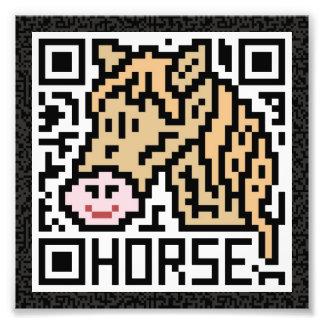 Código de QR el caballo Fotografias