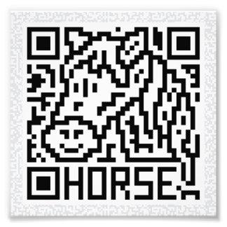 Código de QR el caballo Fotografías