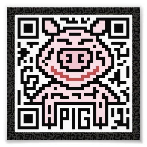 Código de QR el cerdo Foto