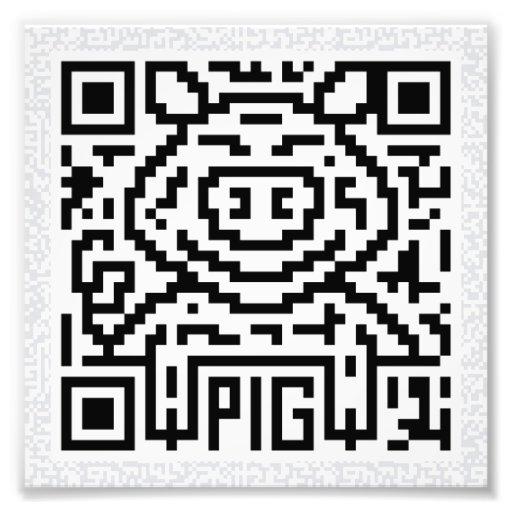 Código de QR el cerdo Impresiones Fotograficas