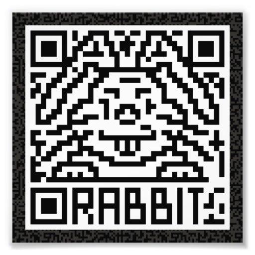 Código de QR el conejo Arte Fotografico