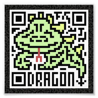 Código de QR el dragón Impresiones Fotograficas