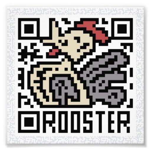 Código de QR el gallo Fotografías