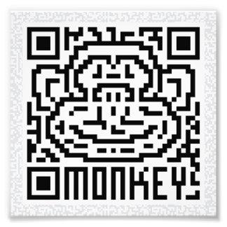 Código de QR el mono Arte Fotográfico