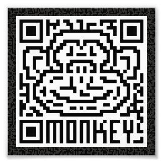 Código de QR el mono Foto