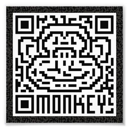 Código de QR el mono Impresiones Fotográficas