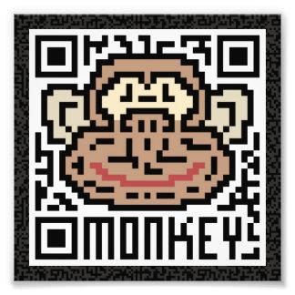 Código de QR el mono Cojinete