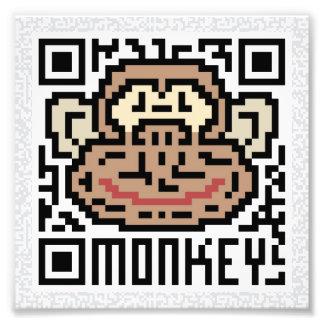 Código de QR el mono Impresion Fotografica