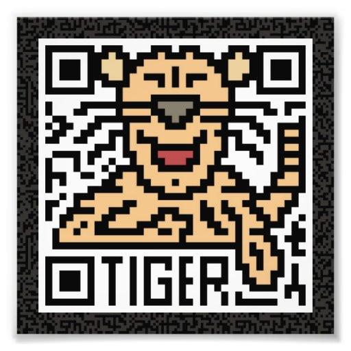Código de QR el tigre Impresiones Fotográficas