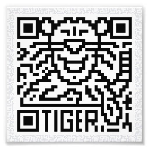 Código de QR el tigre Fotos