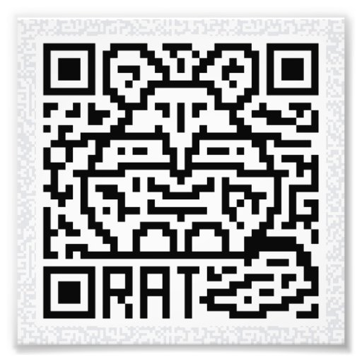 Código de QR la rata Fotografías