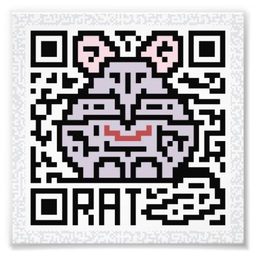 Código de QR la rata Fotos