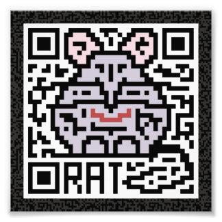 Código de QR la rata Arte Fotografico