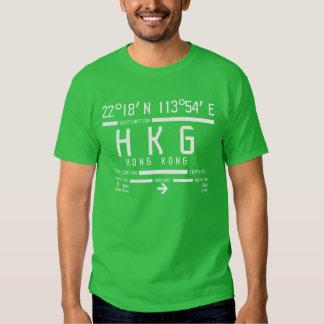 Código del aeropuerto internacional de Hong Kong Camisetas