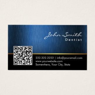 Código del azul de acero QR del cuidado dental del Tarjeta De Visita